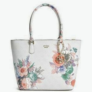 GUESS Linea Floral Print Tote with Matching Wallet